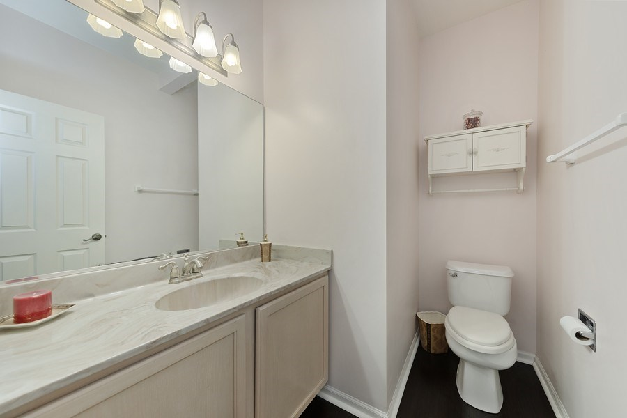 Real Estate Photography - 2588 Camberley Cir, Westchester, IL, 60154 - Powder Room