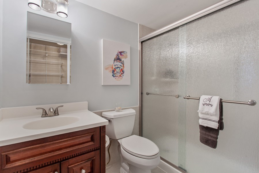 Real Estate Photography - 1110 Grove St 5H, Downers Grove, IL, 60515 - Master Bathroom