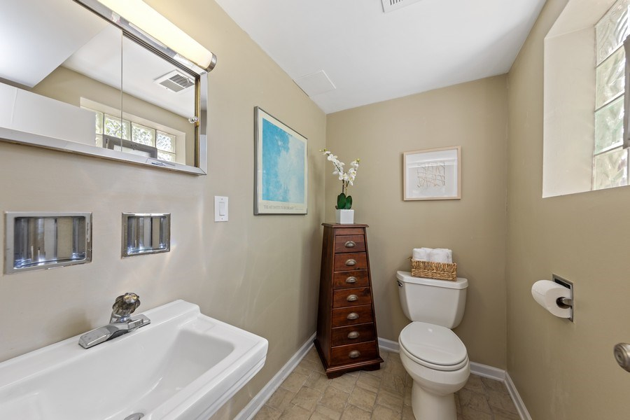 Real Estate Photography - 5124 Ellington, Western Springs, IL, 60558 - Bathroom