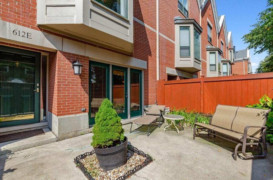 Real Estate Photography - 612 S. Laflin, Unit E, Chicago, IL, 60607 - Patio