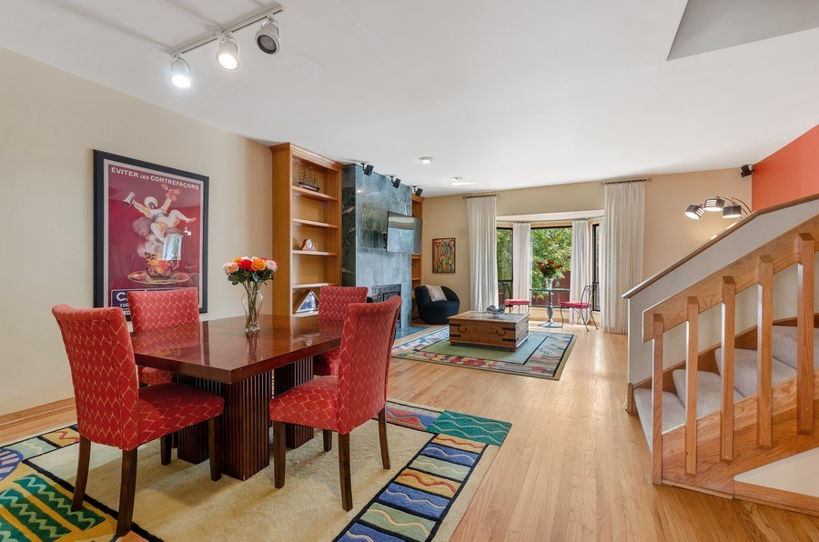 Real Estate Photography - 612 S. Laflin, Unit E, Chicago, IL, 60607 - Living Room / Dining Room