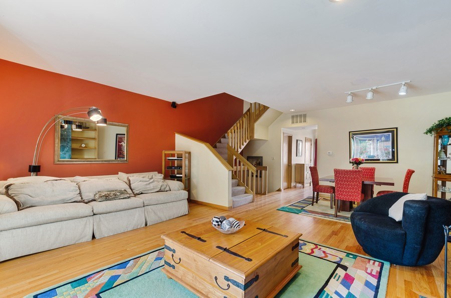 Real Estate Photography - 612 S. Laflin, Unit E, Chicago, IL, 60607 - Living Room/Dining Room