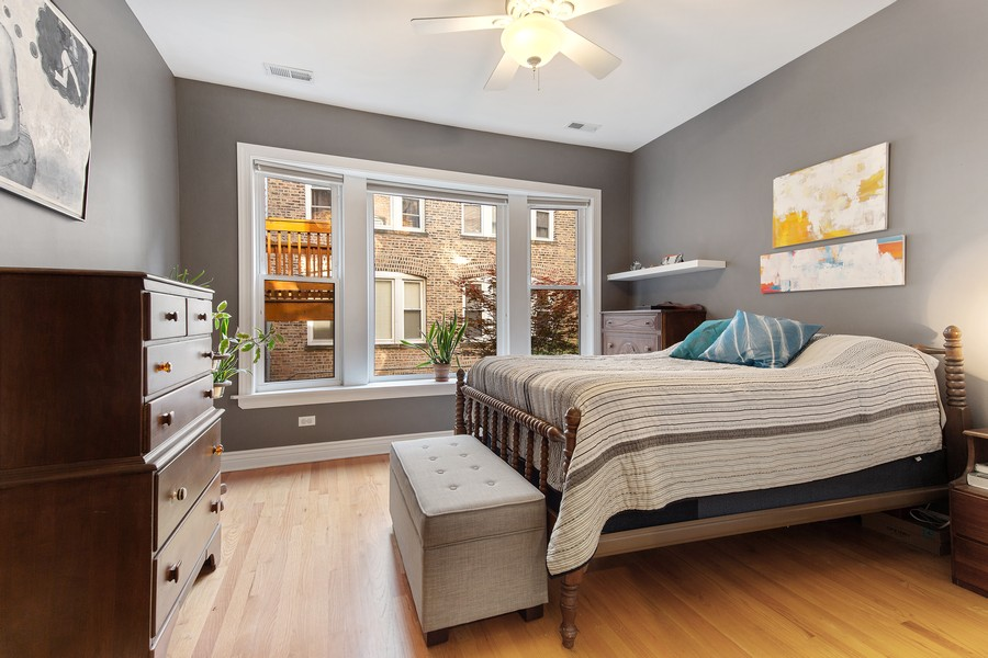 Real Estate Photography - 7035 N Greenview Ave, Unit 1S, Chicago, IL, 60626 - Bedroom