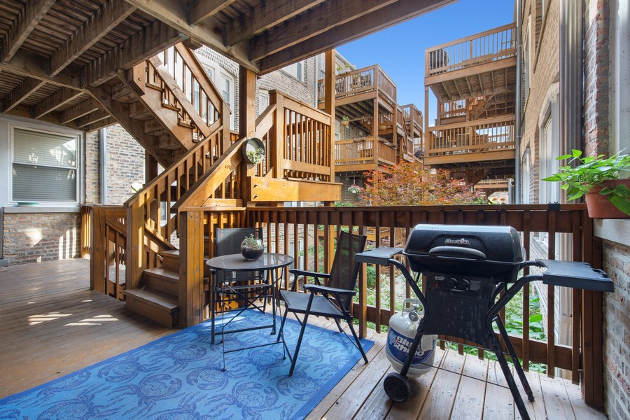 Real Estate Photography - 7035 N Greenview Ave, Unit 1S, Chicago, IL, 60626 - Deck