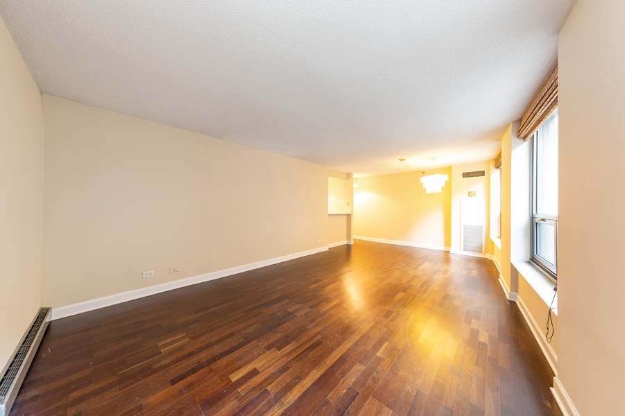 Real Estate Photography - 440 N. Wabash, #505, Chicago, IL, 60611 - Living Room/Dining Room