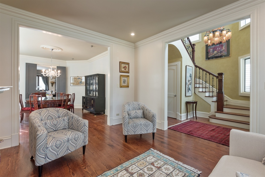 Real Estate Photography - 4512 N Damen, Chicago, IL, 60625 - Foyer/Living Room