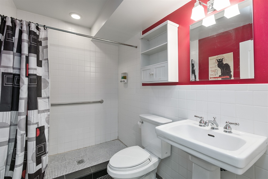 Real Estate Photography - 4512 N Damen, Chicago, IL, 60625 - 2nd Bathroom
