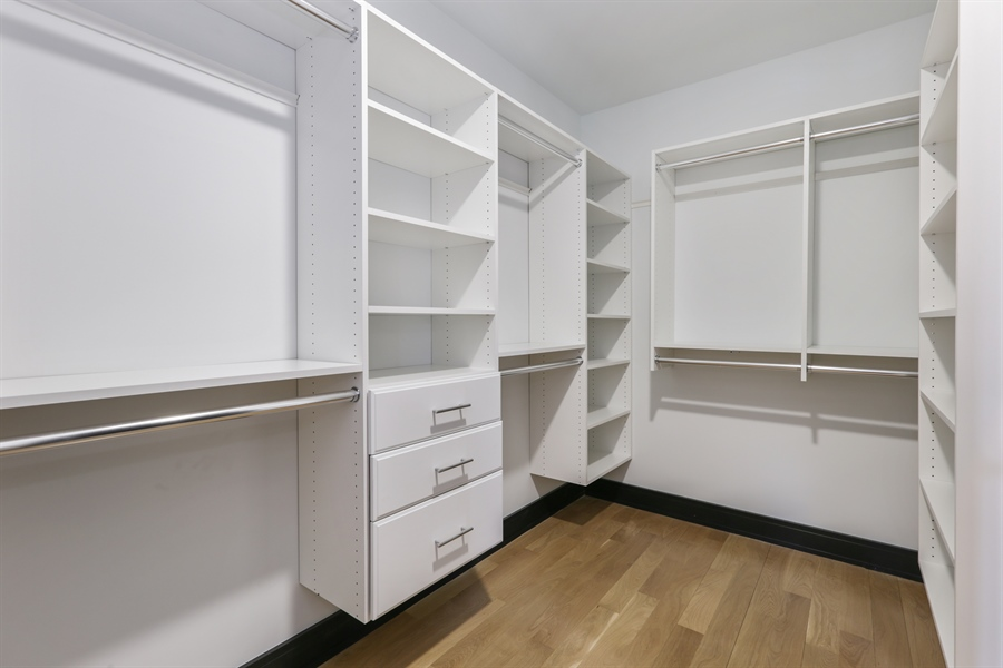 Real Estate Photography - 1702 W Farragut, Chicago, IL, 60640 - Master Bedroom Closet
