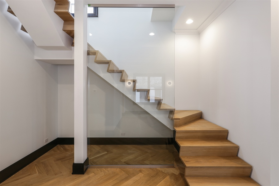 Real Estate Photography - 1702 W Farragut, Chicago, IL, 60640 - Staircase