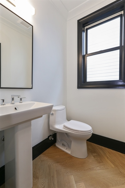 Real Estate Photography - 1702 W Farragut, Chicago, IL, 60640 - Half Bath
