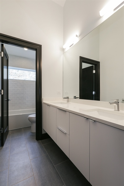 Real Estate Photography - 1702 W Farragut, Chicago, IL, 60640 - Bathroom