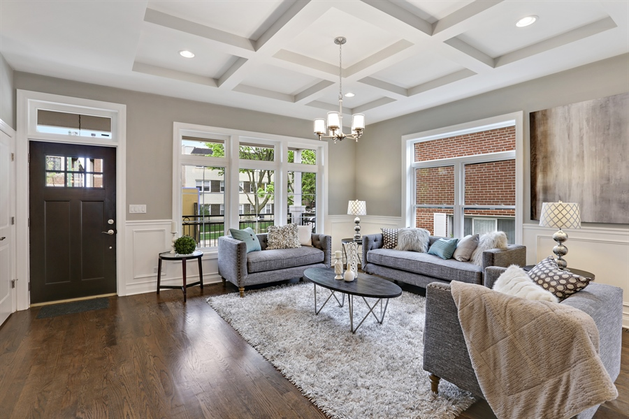 Real Estate Photography - 6108 N Wolcott, Chicago, IL, 60660 - Living Room