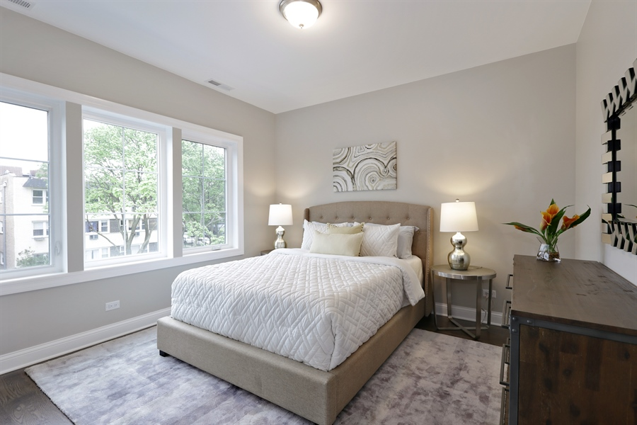 Real Estate Photography - 6108 N Wolcott, Chicago, IL, 60660 - Bedroom # 1