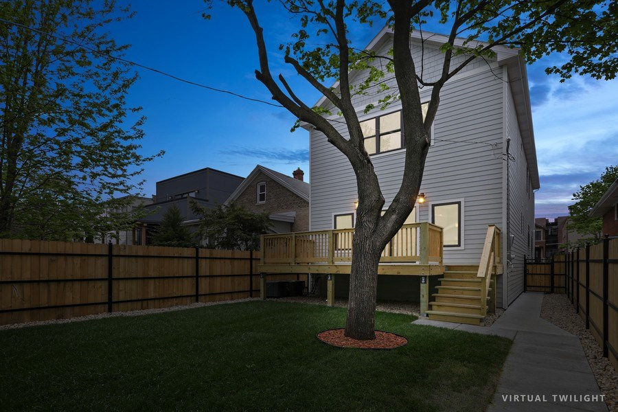 Real Estate Photography - 6108 N Wolcott, Chicago, IL, 60660 - Back Yard