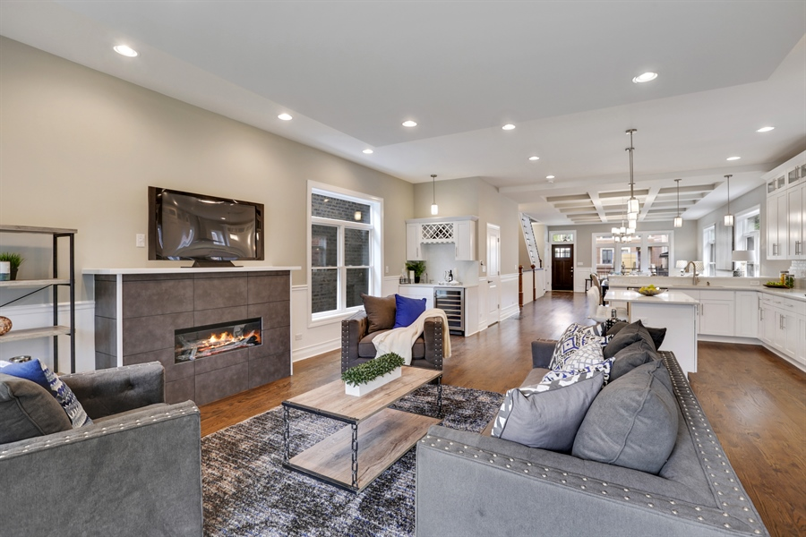 Real Estate Photography - 6108 N Wolcott, Chicago, IL, 60660 - Family Room