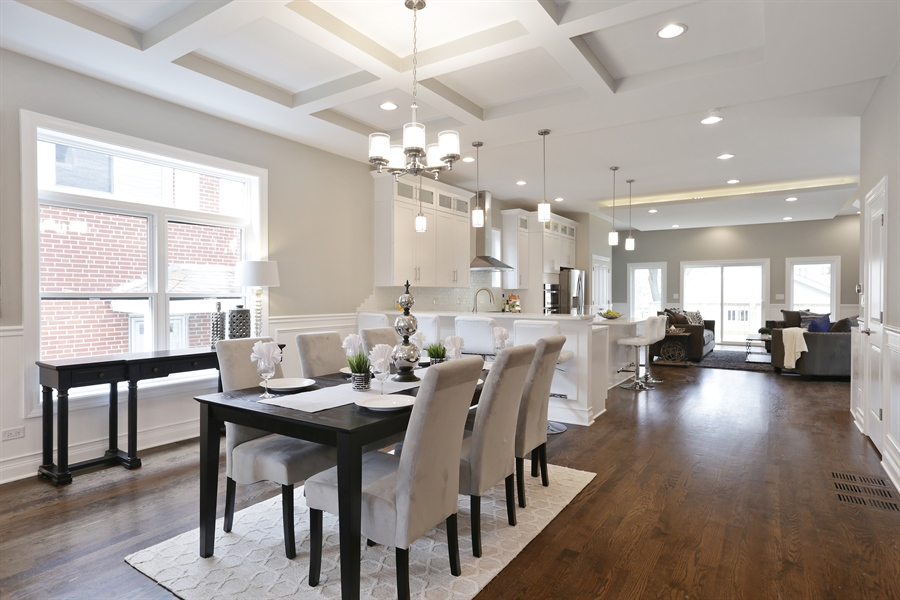 Real Estate Photography - 6108 N Wolcott, Chicago, IL, 60660 - Dining Room