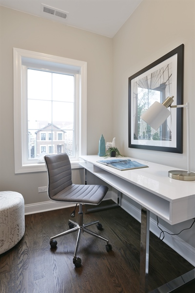 Real Estate Photography - 6108 N Wolcott, Chicago, IL, 60660 - Office/5th Bedroom