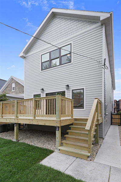 Real Estate Photography - 6108 N Wolcott, Chicago, IL, 60660 - Rear View