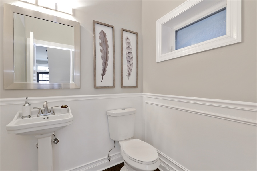 Real Estate Photography - 6108 N Wolcott, Chicago, IL, 60660 - Half Bath