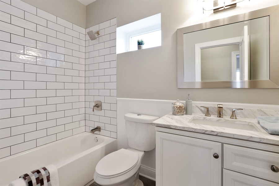 Real Estate Photography - 6108 N Wolcott, Chicago, IL, 60660 - Bathroom
