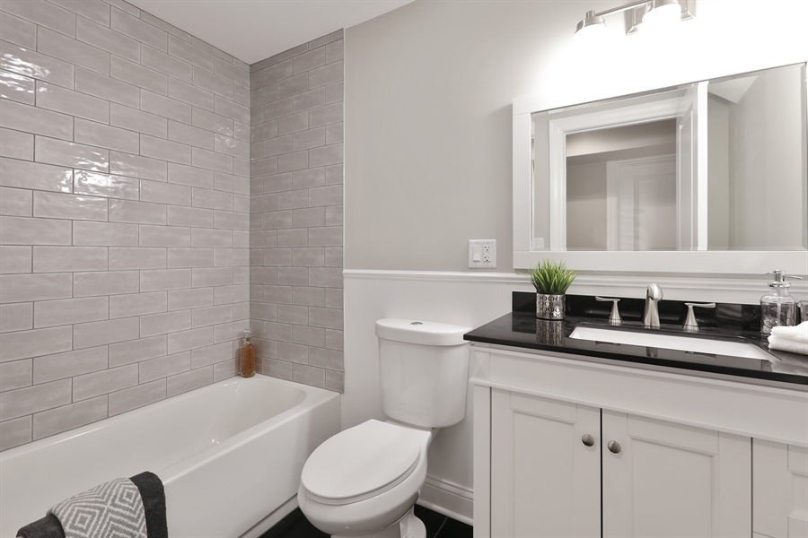 Real Estate Photography - 6108 N Wolcott, Chicago, IL, 60660 - 2nd Bathroom
