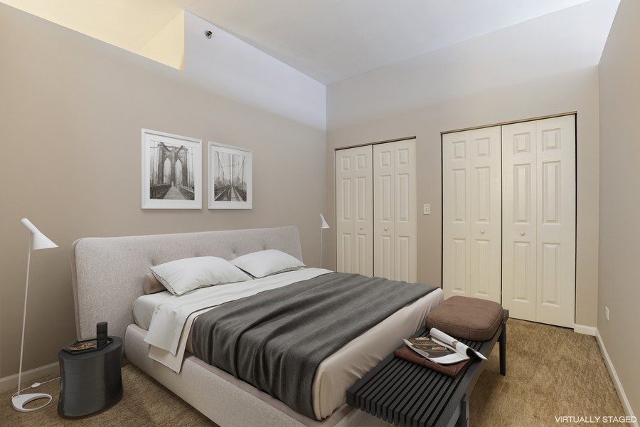 Real Estate Photography - 340 W Superior St, 1106, Chicago, IL, 60654 - Bedroom