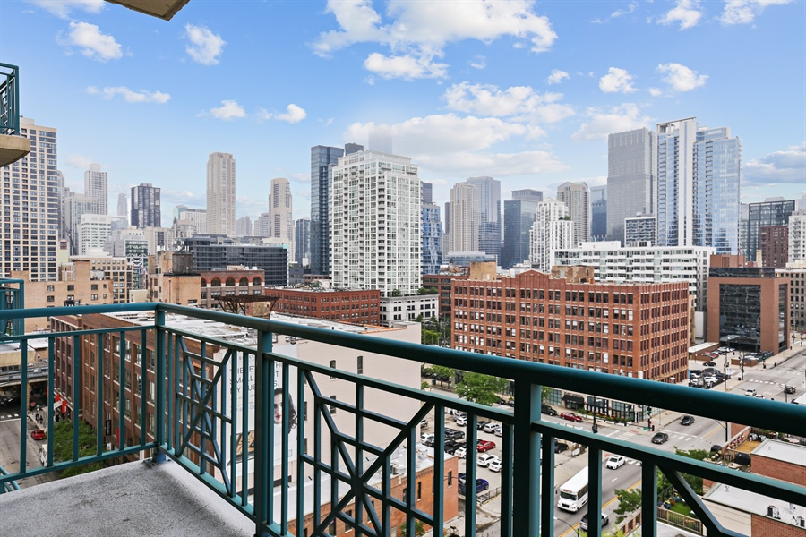 Real Estate Photography - 340 W Superior St, 1106, Chicago, IL, 60654 - Balcony