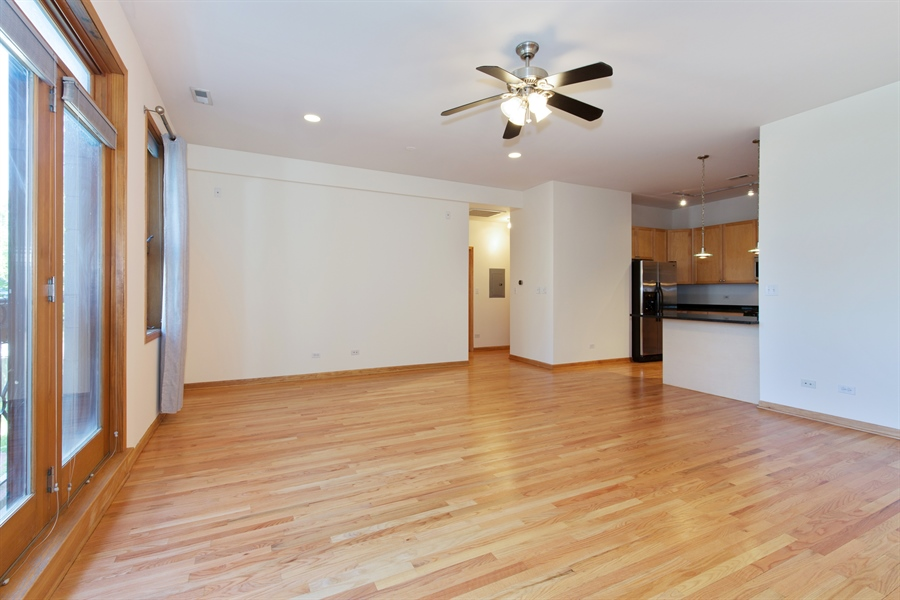 Real Estate Photography - 2136 W Monroe, Unit 203, Chicago, IL, 60612 - Living Room