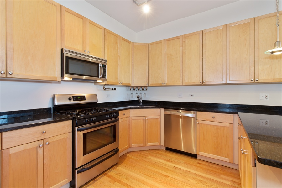Real Estate Photography - 2136 W Monroe, Unit 203, Chicago, IL, 60612 - Kitchen