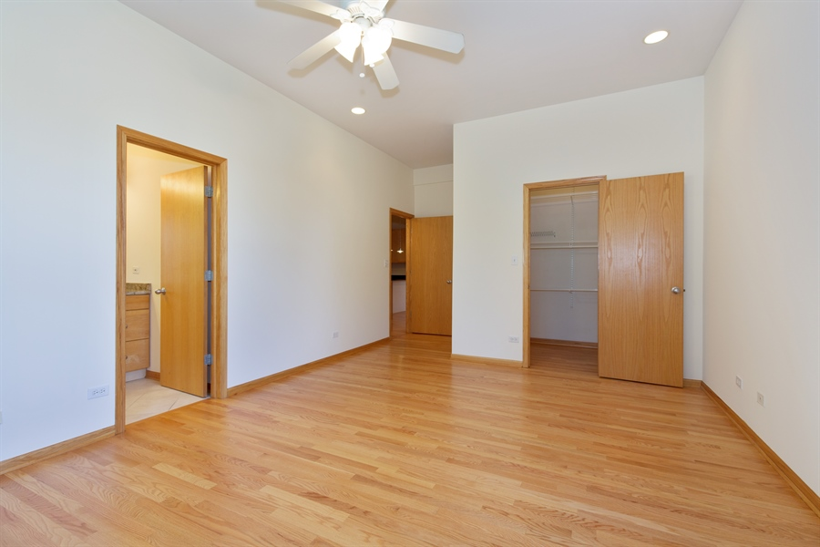 Real Estate Photography - 2136 W Monroe, Unit 203, Chicago, IL, 60612 - Master Bedroom
