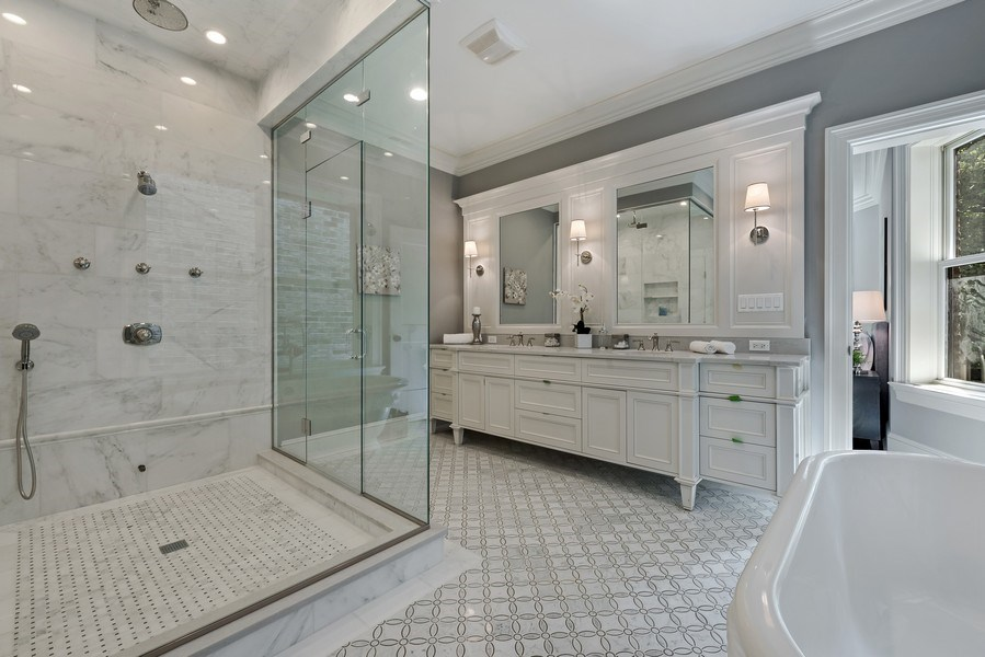 Real Estate Photography - 1330 W Newport, Chicago, IL, 60657 - Master Bathroom