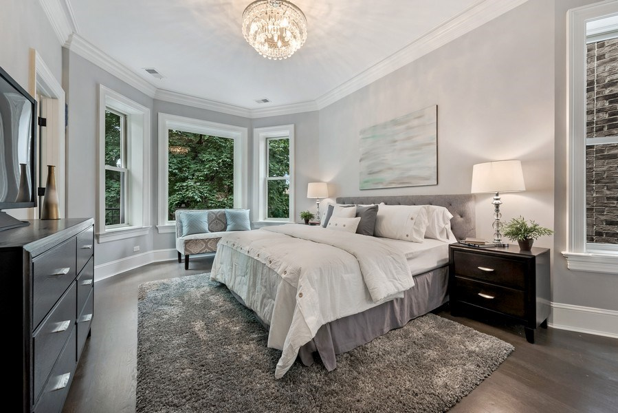Real Estate Photography - 1330 W Newport, Chicago, IL, 60657 - Master Bedroom