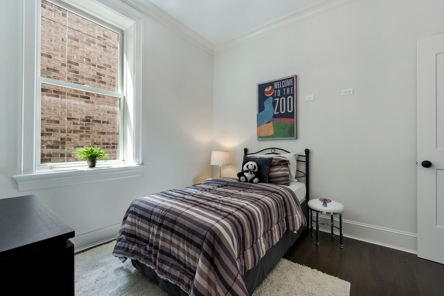 Real Estate Photography - 1330 W Newport, Chicago, IL, 60657 - 3rd Bedroom