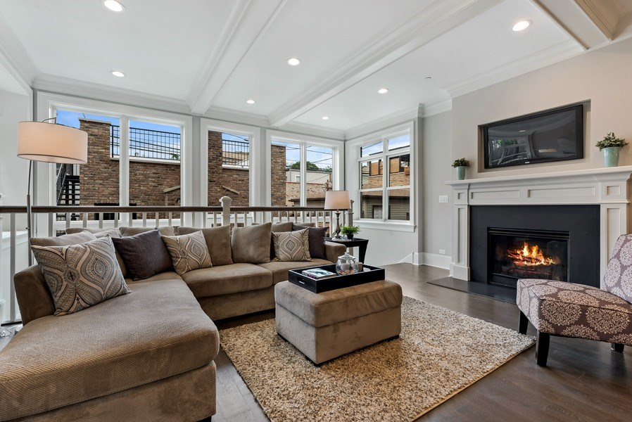 Real Estate Photography - 1330 W Newport, Chicago, IL, 60657 - Family Room