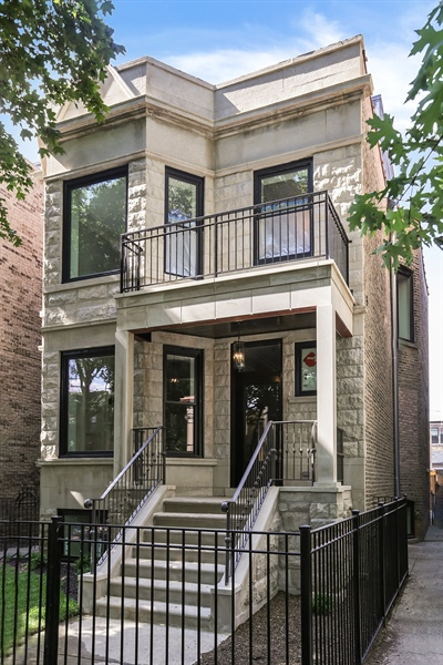 Real Estate Photography - 1330 W Newport, Chicago, IL, 60657 - Front View