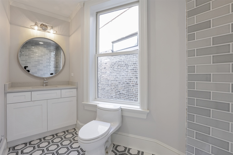 Real Estate Photography - 1330 W Newport, Chicago, IL, 60657 - Bathroom