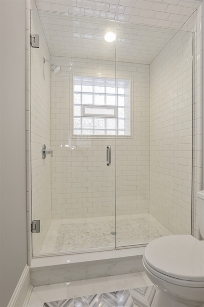 Real Estate Photography - 1330 W Newport, Chicago, IL, 60657 - 2nd Bathroom