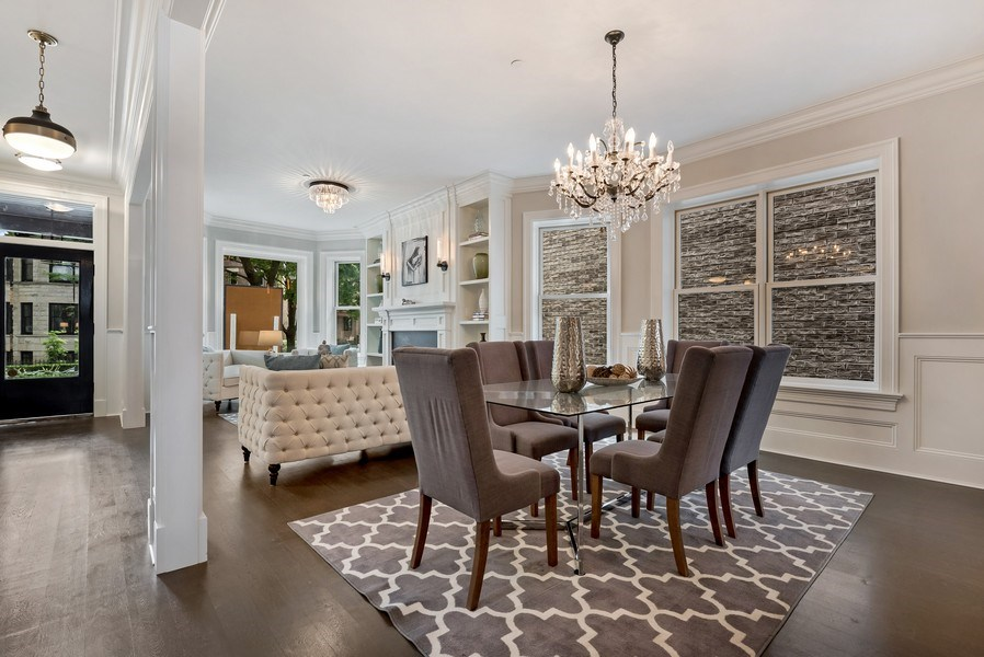 Real Estate Photography - 1330 W Newport, Chicago, IL, 60657 - Living Room / Dining Room