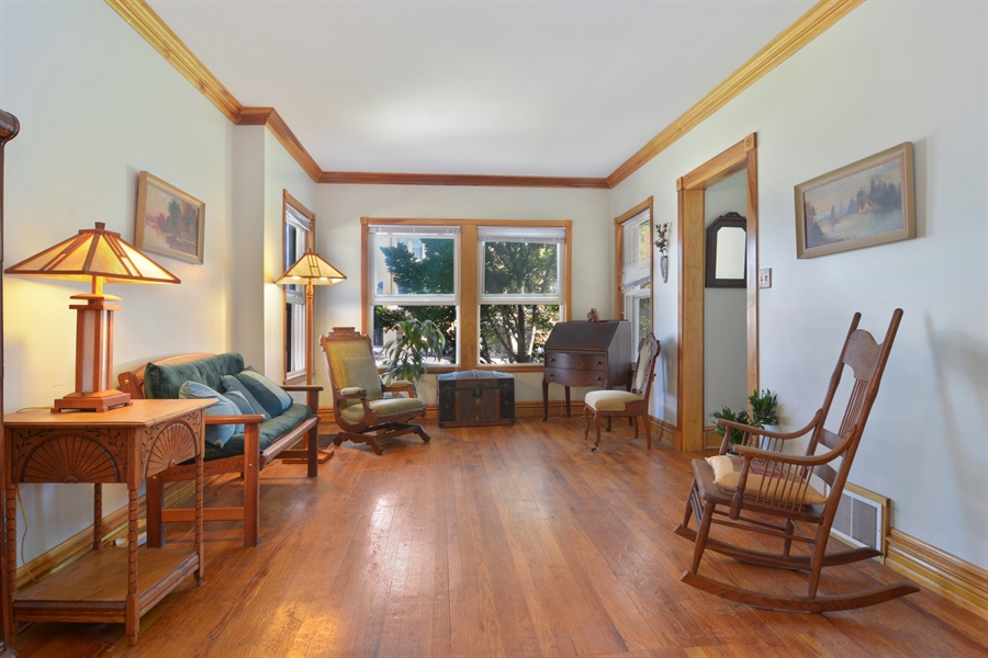 Real Estate Photography - 4733 W Addison, Chicago, IL, 60618 - Living Room