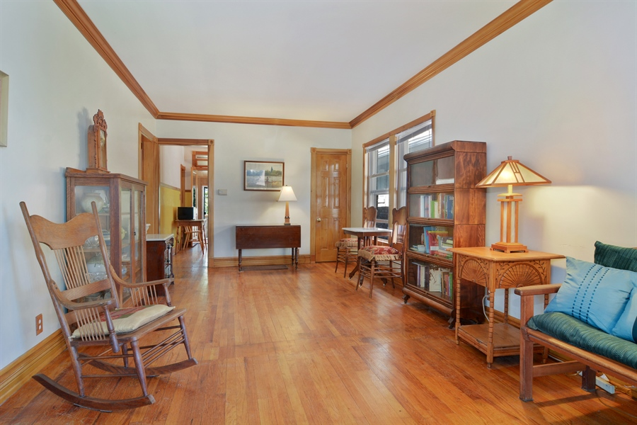 Real Estate Photography - 4733 W Addison, Chicago, IL, 60618 - Living Room / Dining Room