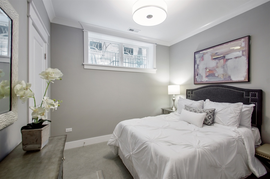 Real Estate Photography - 707 W Buckingham, Unit 1W, Chicago, IL, 60657 - 2nd Bedroom