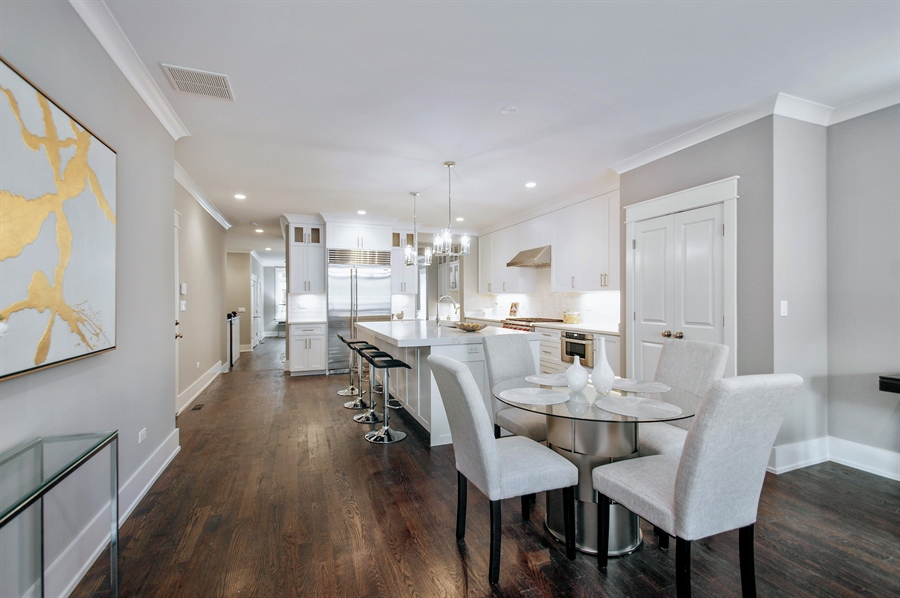 Real Estate Photography - 707 W Buckingham, Unit 1W, Chicago, IL, 60657 - Kitchen / Breakfast Room