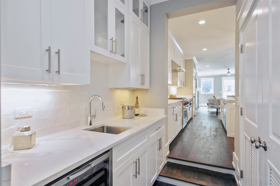 Real Estate Photography - 707 W Buckingham, Unit 1W, Chicago, IL, 60657 - Butler's pantry