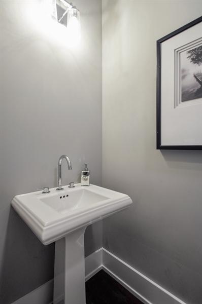 Real Estate Photography - 707 W Buckingham, Unit 1W, Chicago, IL, 60657 - Powder Room