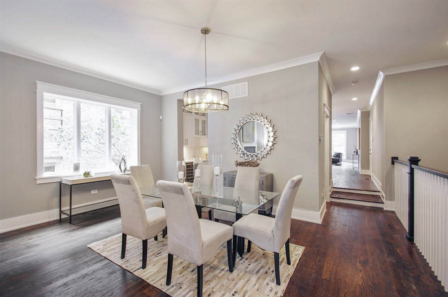 Real Estate Photography - 707 W Buckingham, Unit 1W, Chicago, IL, 60657 - Dining Area