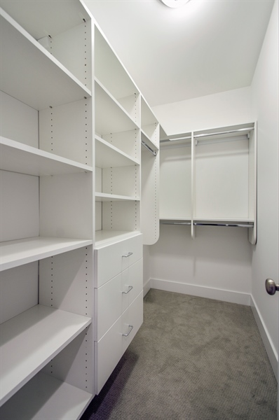 Real Estate Photography - 707 W Buckingham, Unit 1W, Chicago, IL, 60657 - Master Bedroom Closet