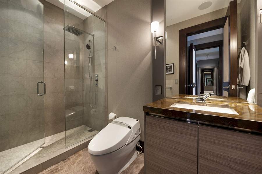 Real Estate Photography - 118 E Erie, unit 38 L, Chicago, IL, 60611 - 3rd Bathroom