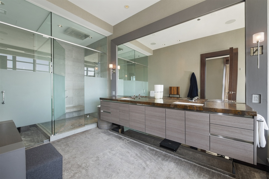 Real Estate Photography - 118 E Erie, unit 38 L, Chicago, IL, 60611 - Master Bathroom