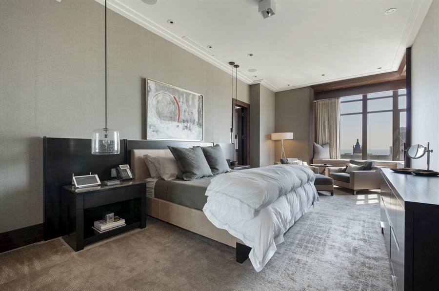 Real Estate Photography - 118 E Erie, unit 38 L, Chicago, IL, 60611 - Master Bedroom