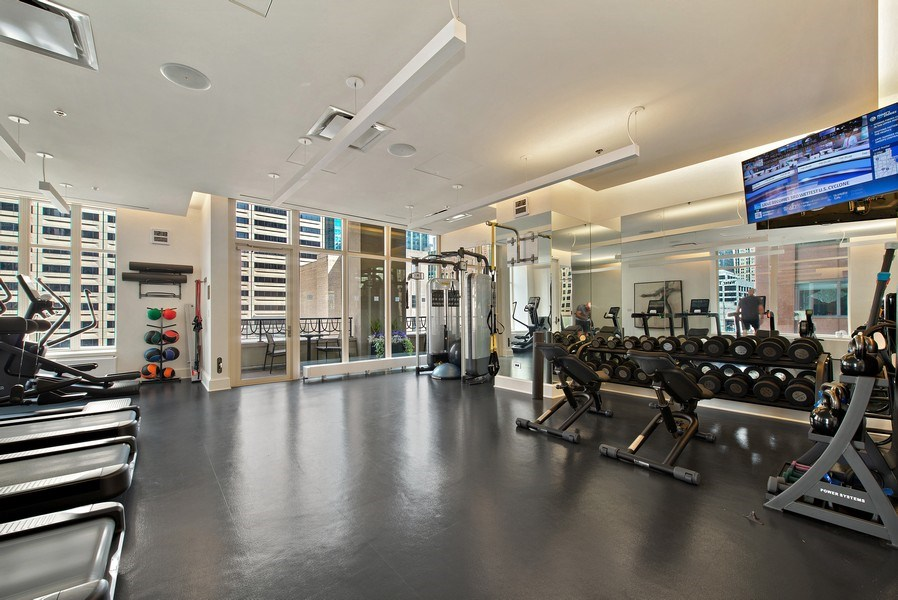 Real Estate Photography - 118 E Erie, unit 38 L, Chicago, IL, 60611 - Gym